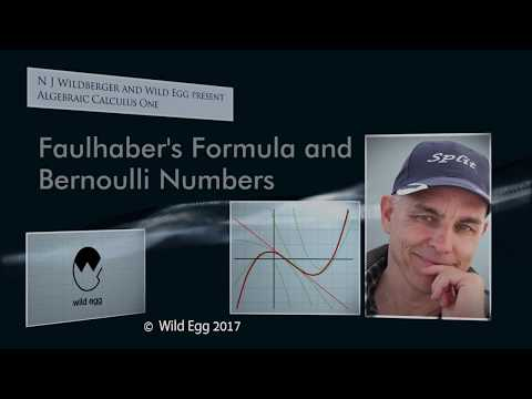 AlgCalcOne: Faulhaber's Formula and Bernoulli Numbers