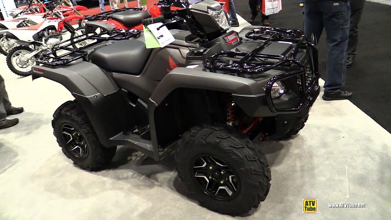2017 Honda Foreman Rubicon DLX TRX500 Recreational ATV - Walkaround - 2016 EIMExpo Orlando - YouTube