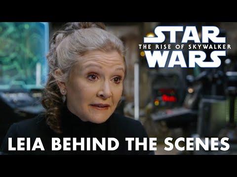 Star Wars The Rise Of Skywalker Leia Behind The Scenes