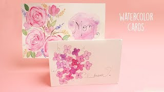 Watercolor Cards    Card Making
