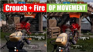 Crouch + Fire OP Movement Trick | Learn How To (Full Tutorial) PUBG MOBILE