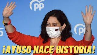 Ayuso celebra su arrolladora victoria con un discurso histórico ¡¡Y SENTENCIA A PEDRO SÁNCHEZ!!