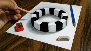 3D Trick Art on Paper  Round Ring