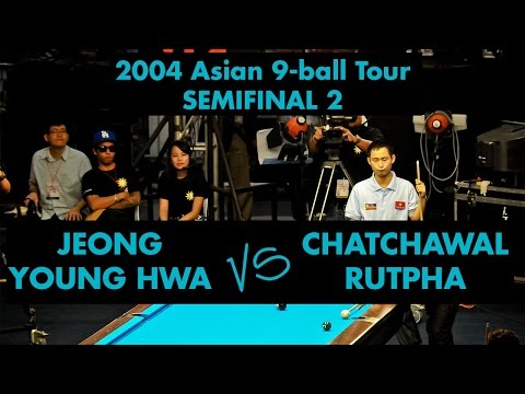Jeong Young HWA vs Chatchawal RUTPHA - SF 2004 Asian 9-ball Tour