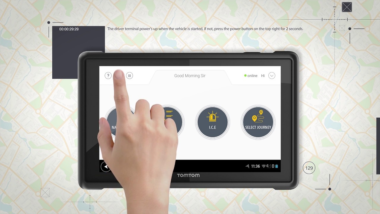 Driver Data Terminal - TomTom Bridge - Traffilog - Fleet Management