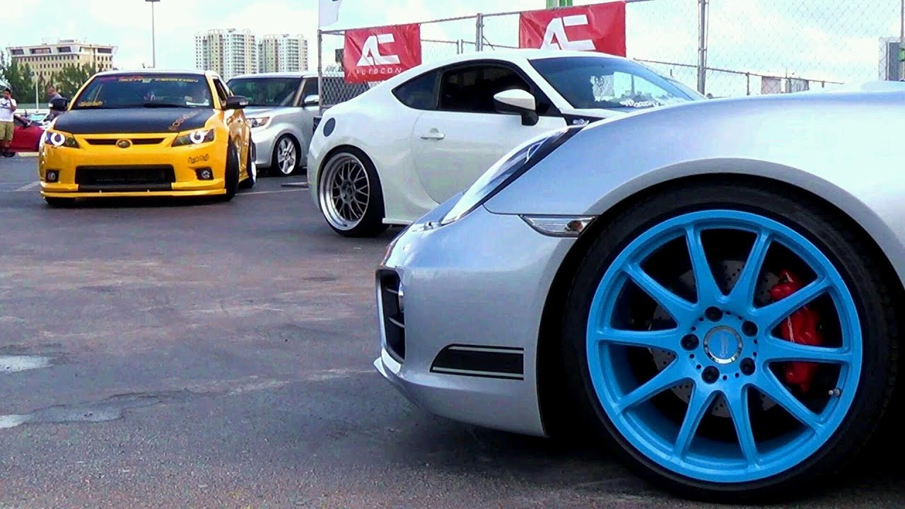 AUTOCON 2013 CUSTOM TUNED STREET RACING CARS AT MIAMI PART 2 - YouTube