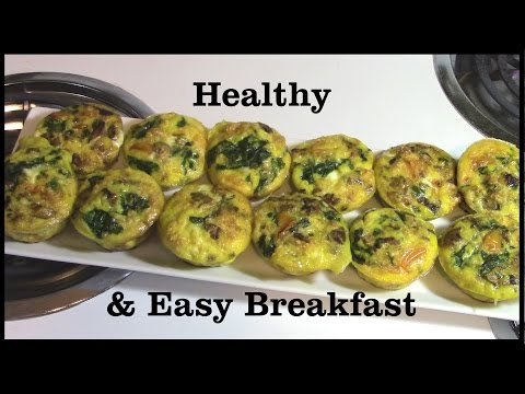 Healthy & Easy BreakfastMini Quiche (with Rye Biscuits)