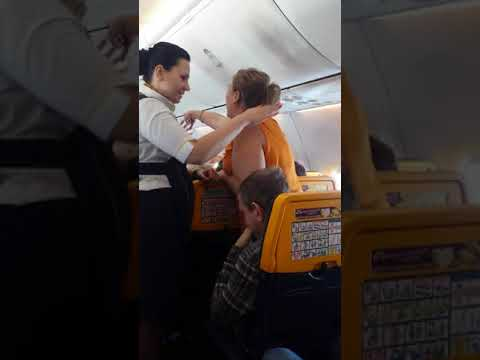 Drunk Irish woman on Ryanair flight from Spain.  1/10/18