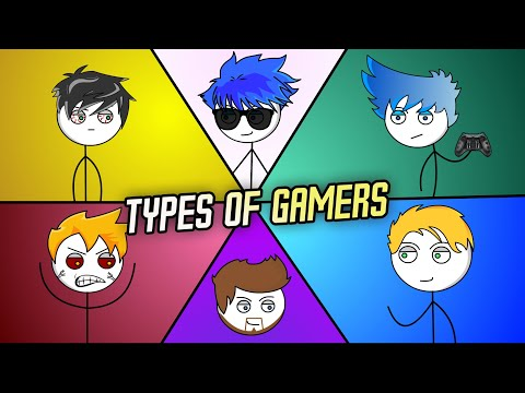 6 TYPES OF GAMERS | ANIMATED PARODY