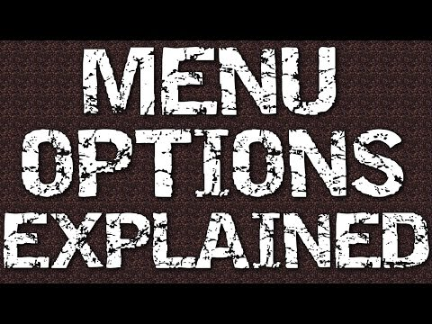 7 days to die ps4 /xbox 1 menu explained tutorial