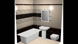 3D проекты керамической плитка Березакерамика для ванной комнаты и санузлов