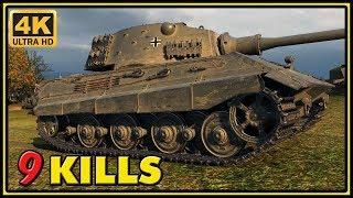 E 75 - 9 Kills - 1 VS 4 - World of Tanks Gameplay - 4K Video