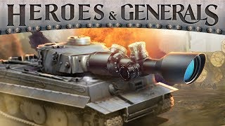 SNIPING WITH A TANK   Heroes & Generals
