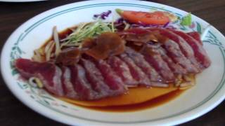 Ethel's Grill (kalihi) - Salad, Miso Soup, Tataki Sashimi And Japanese Hamburger Steak