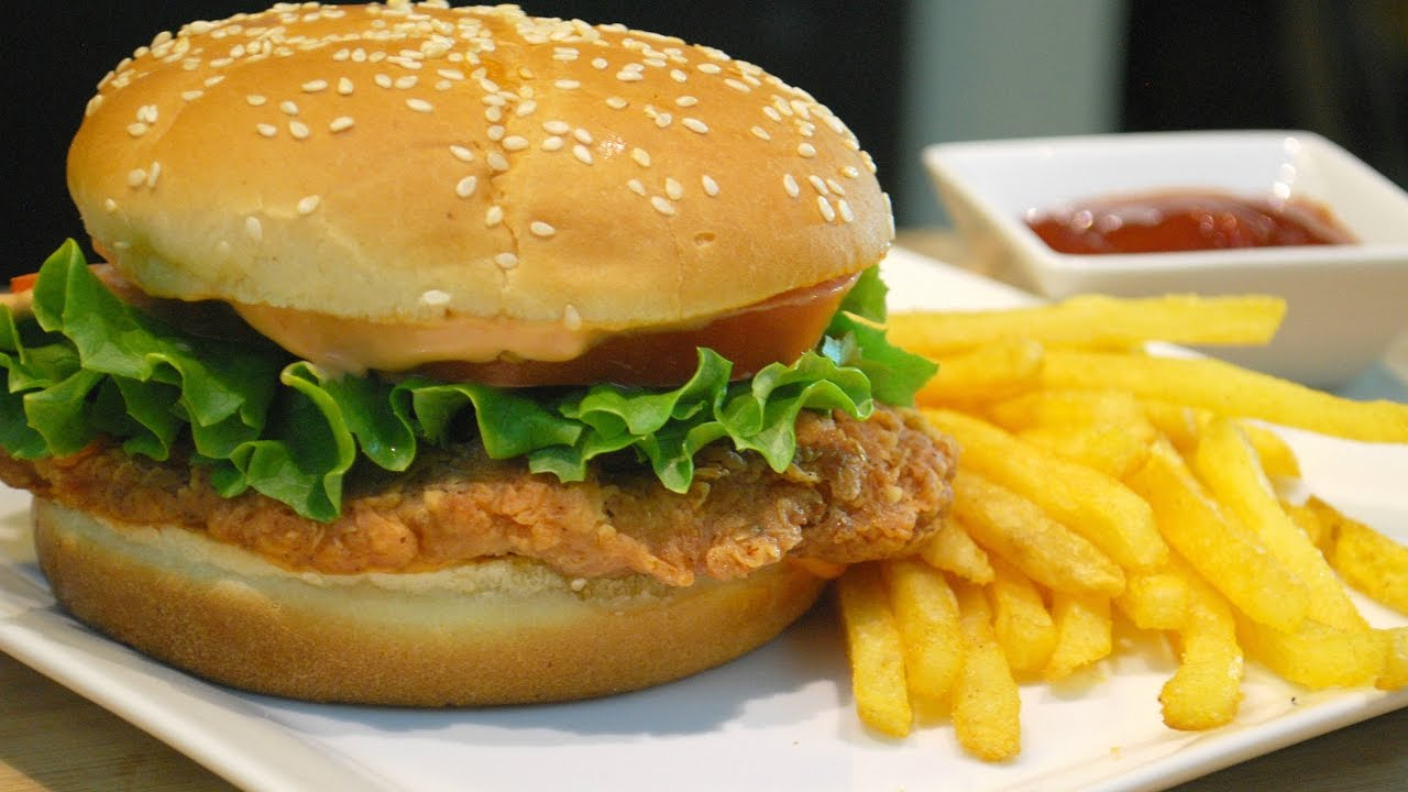 Kfc Style Crispy Chicken Burger Zinger Burger Youtube