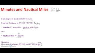Minutes and Nautical miles