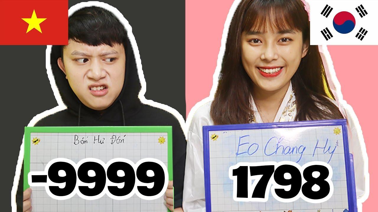 Thách Tính Nhanh Với Bạn Gái Hàn Quốc - Ai Ngu Hơn?