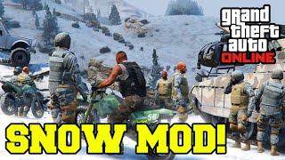 """GTA 5 PC Mods"" SNOW MOD ONLINE GAMEPLAY! (GTA V PC Mod Download)"