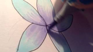 Colouring flower with copics (simple)