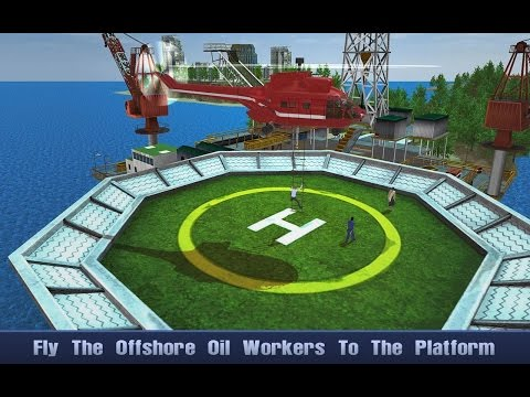Offshore Oil Helicopter Cargo (By TrimcoGames) Android Gameplay HD