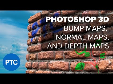 Photoshop 3D - Understanding Depth Maps, Bump Maps, and Normal Maps thumbnail