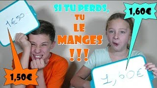 DEVINE LE PRIX : SI TU PERDS TU LE MANGES !!