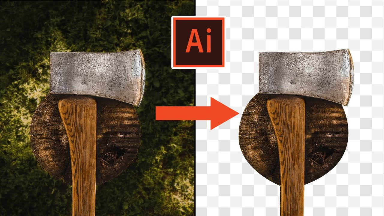 How to Remove background in AI Illustrator 2020 - YouTube