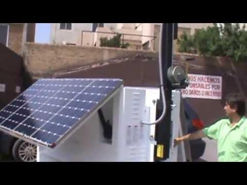 Torre De Iluminacion Lamparas Led Con Paneles Solares Y