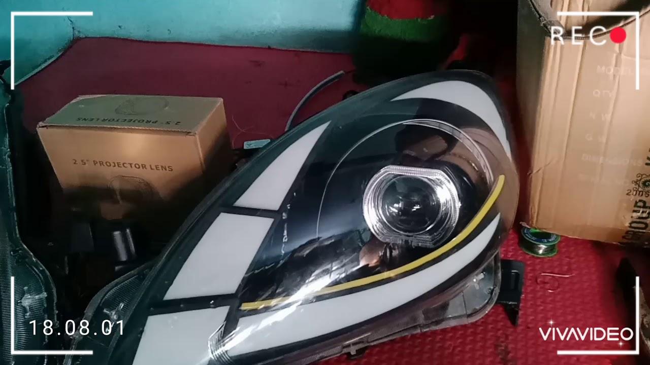 Custom Headlamp Honda Mobilio 2012 & Honda BRIO - YouTube