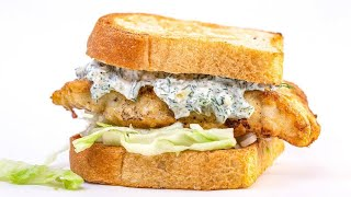 How To Make An Egg-Battered Fishwich on Toast with Yogurt Tartar Sauce By Rachael