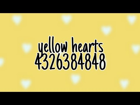 Roblox Music Code Yellow Hearts Ant Saunders Youtube