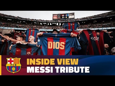 [BEHIND THE SCENES] Camp Nou hails Leo Messi on 500 goal milestone