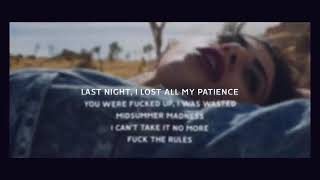 Midsummer Madness | Lyrics | Lirik Lagu | Fuck The Rules