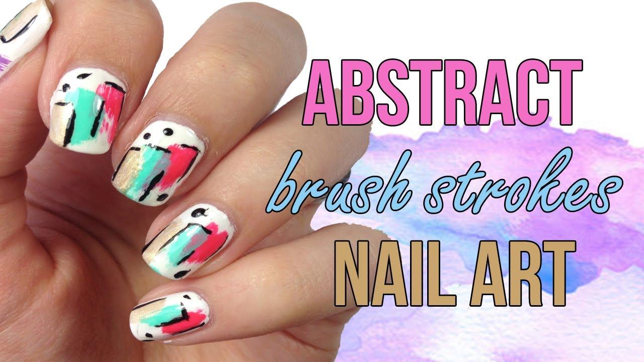 Abstract brush strokes nail art youtube abstract brush strokes nail art prinsesfo Images