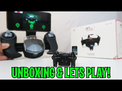 Unboxing & Let's Play - JETJAT ULTRA DRONE - WORLD'S SMALLEST LIVE STREAMING VIDEO DRONE!