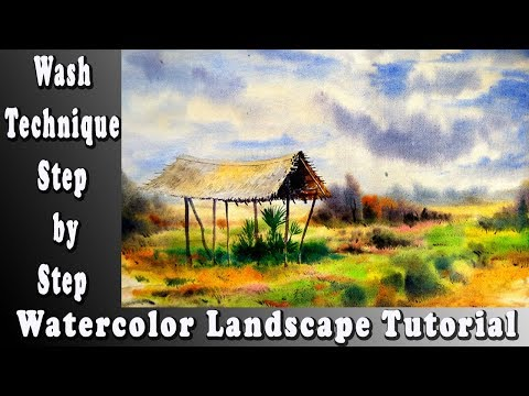 Watercolor Landscape Painting – Wet-on-Wet Technique easy way to learn