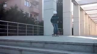 6 basamak kickflip !!!