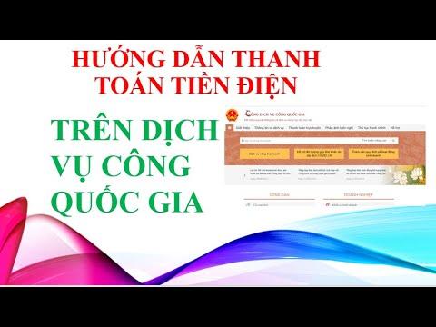 Hướng dẫn thanh toán tiền điện bằng tài khoản cá nhân trên Dichvucong.gov.vn