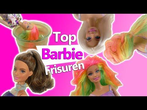Top Barbie Frisuren DIY | Puppen Frisuren selber machen | Regenbogenhaare | Haare flechten | Kids