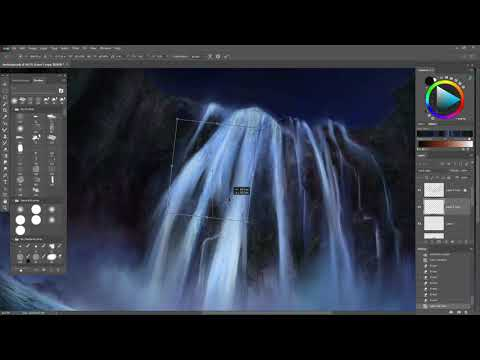Waterfall – Fantasy Landscape [Digital Painting]