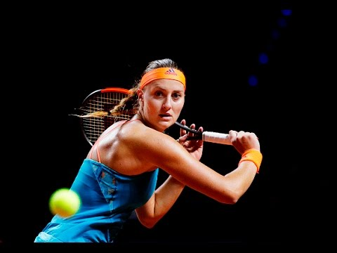 2017 Porsche Tennis Grand Prix Quartferfinals   Mladenovic vs Suarez Navarro   WTA Highlights