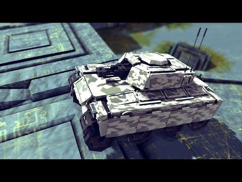 Besiege: IT-15e Tank – Up the Hill