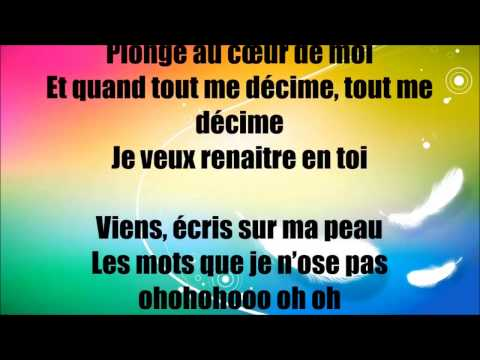 AMIR - AU COEUR DE MOI ( LYRICS PAROLES )