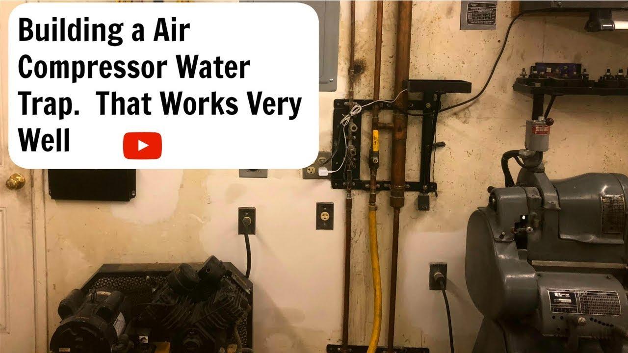 Air Compressor Water Trap Setup