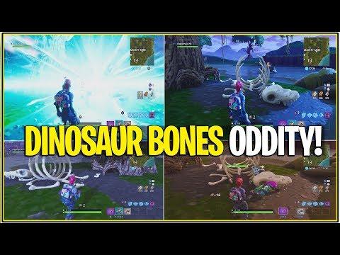 *NEW* Fortnite: MOISTY PORTAL EXPLOSION AND DINOSAUR BONES ODDITY! | (Season 5 Dinosaurs!)