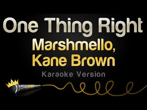 Download Lagu  Marshmello & Kane Brown - One Thing Right Karaoke Version Mp3 Free