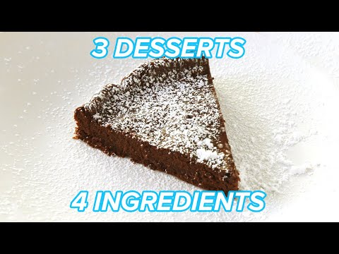 I Made 3 Chocolatey Desserts With Only 4 Ingredients • Tasty