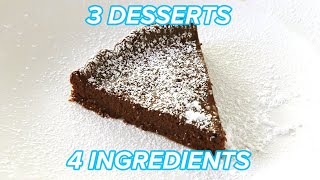 I Made 3 Chocolatey Desserts With Only 4 Ingredients  Tasty