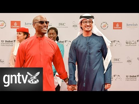Hollywood star Tyrese Gibson at 'The Worthy' red carpet in Dubai
