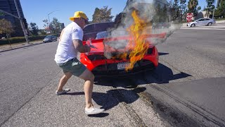 MY MCLAREN BLOWS UP AND CATCHES FIRE … *Emotional*